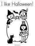 I like Halloween! Coloring Page