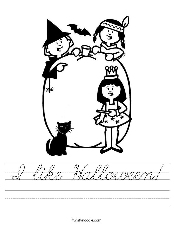 I like Halloween! Worksheet