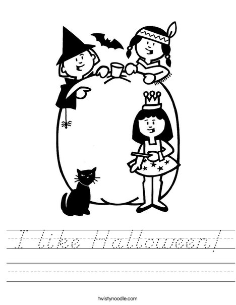 Halloween Party Worksheet