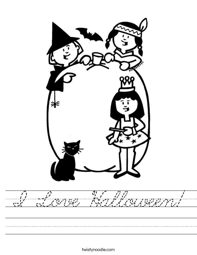 I Love Halloween! Worksheet