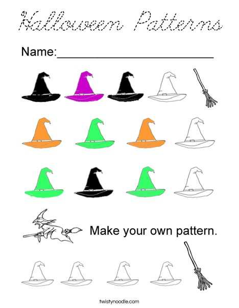 Halloween Patterns Coloring Page