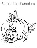 Color the PumpkinsColoring Page