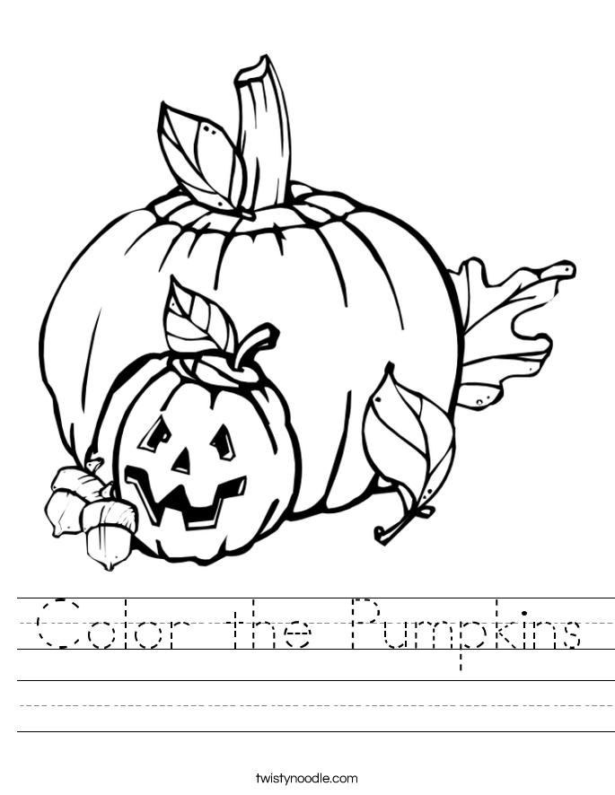 Color the Pumpkins Worksheet