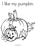 I like my pumpkin.Coloring Page