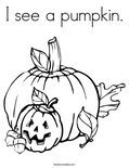 I see a pumpkin. Coloring Page