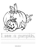 I see a pumpkin. Worksheet