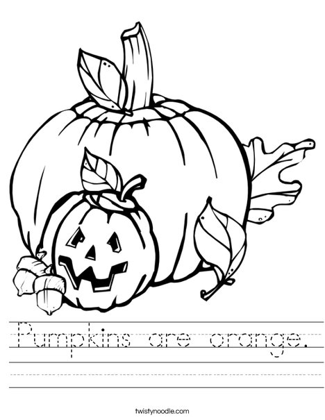 Halloween Pumpkins Worksheet