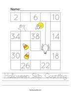 Halloween Skip Counting Handwriting Sheet