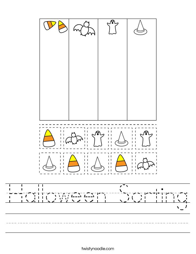 Halloween Sorting Worksheet
