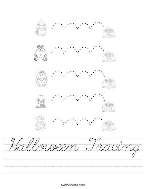 Halloween Tracing Worksheet