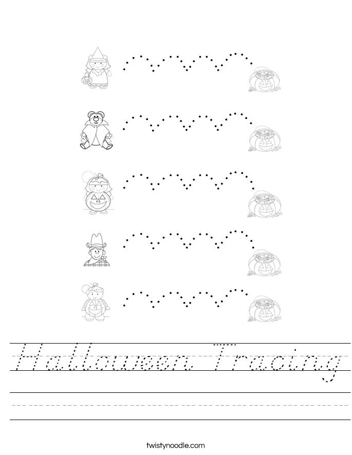 Halloween Tracing Worksheet