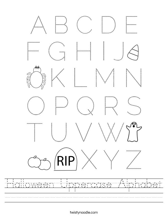 Halloween Uppercase Alphabet Worksheet