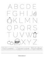 Halloween Uppercase Alphabet Handwriting Sheet