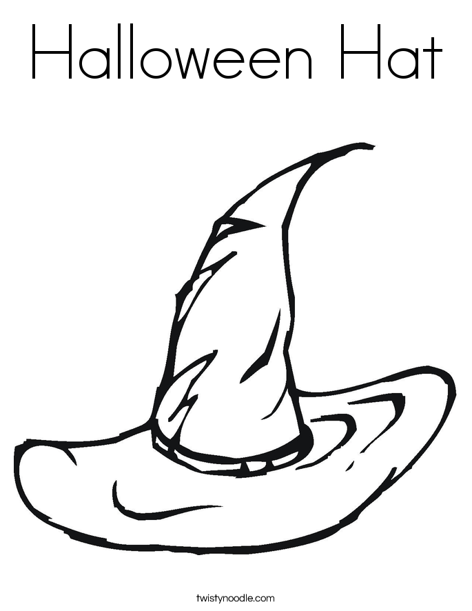 Halloween Hat Coloring Page