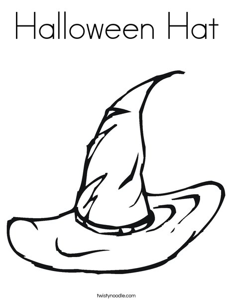 Coloring Pages For Halloween Witches : Halloween hat coloring page twisty noodle