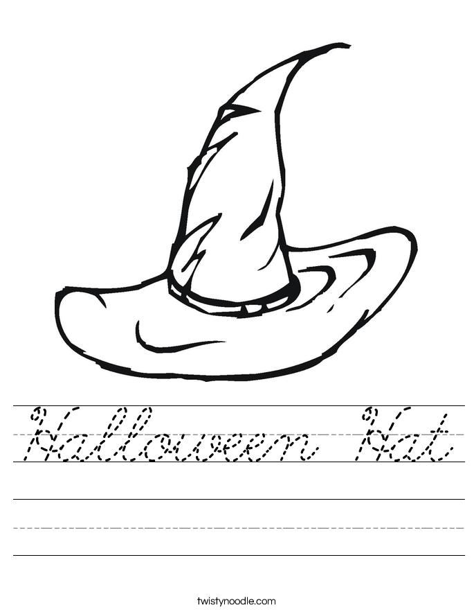 Halloween Hat Worksheet