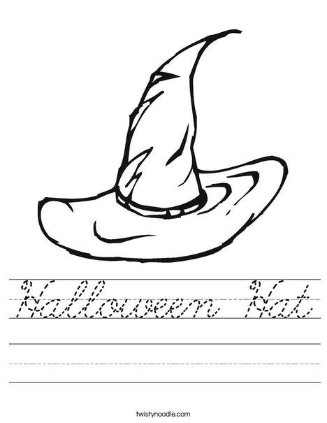 Halloween Witches Hat Worksheet