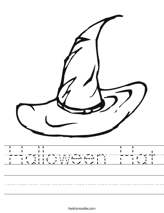 Halloween Hat Worksheet