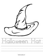 Halloween Hat Handwriting Sheet