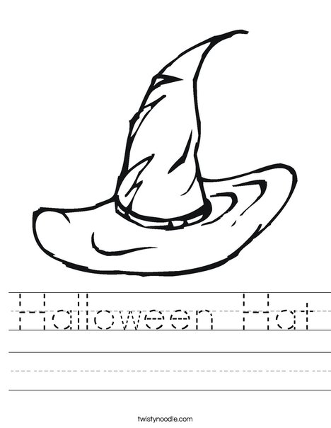 Halloween Witches Hat Worksheet