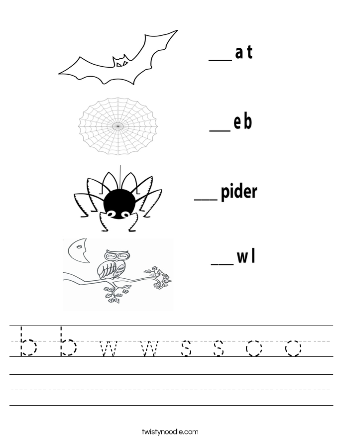 b b w w s s o o  Worksheet