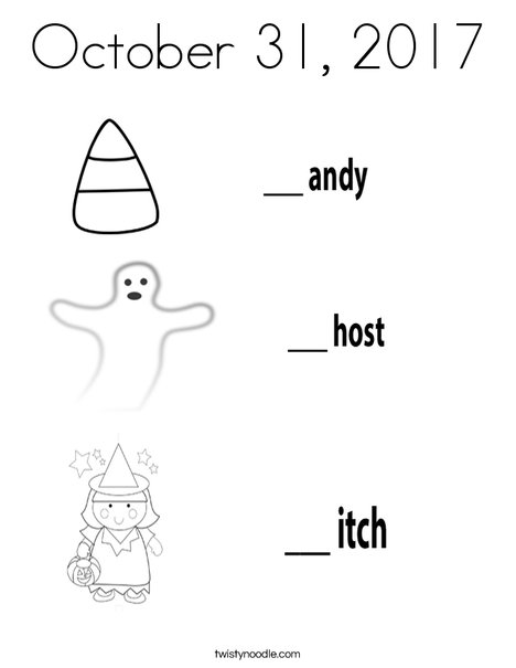 Candy Ghost Witch Coloring Page