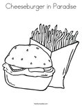 Cheeseburger in Paradise Coloring Page