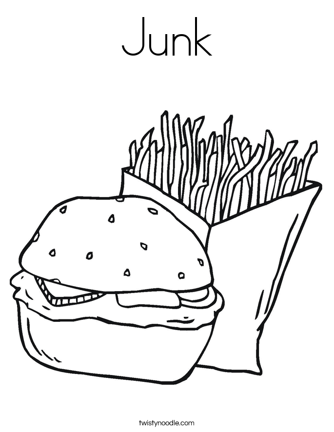 Junk Coloring Page