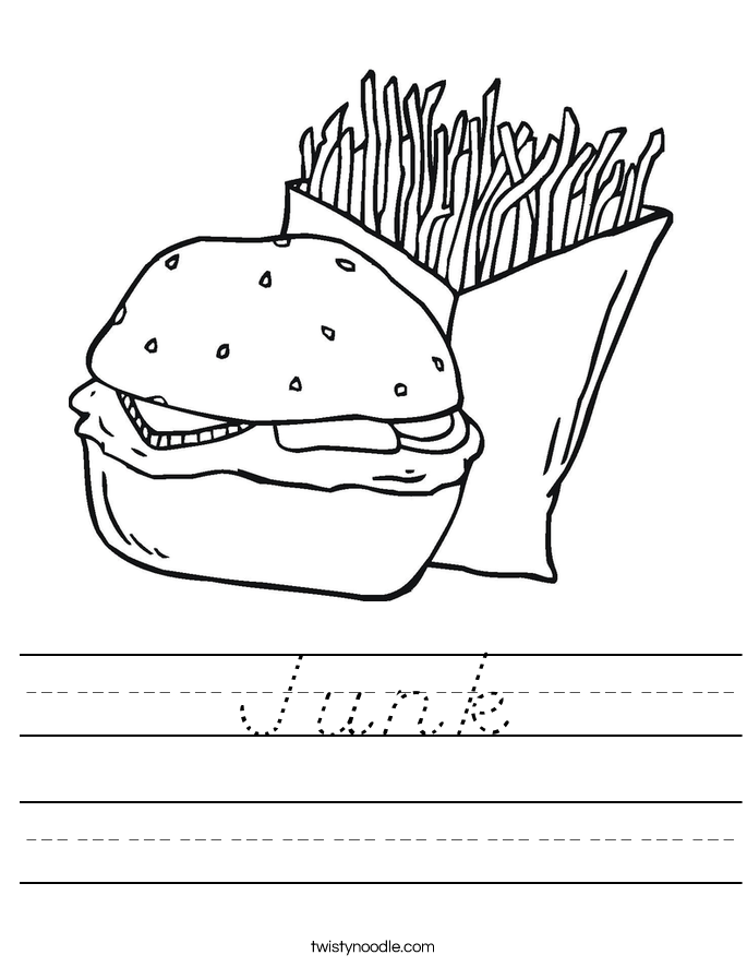 Junk Worksheet