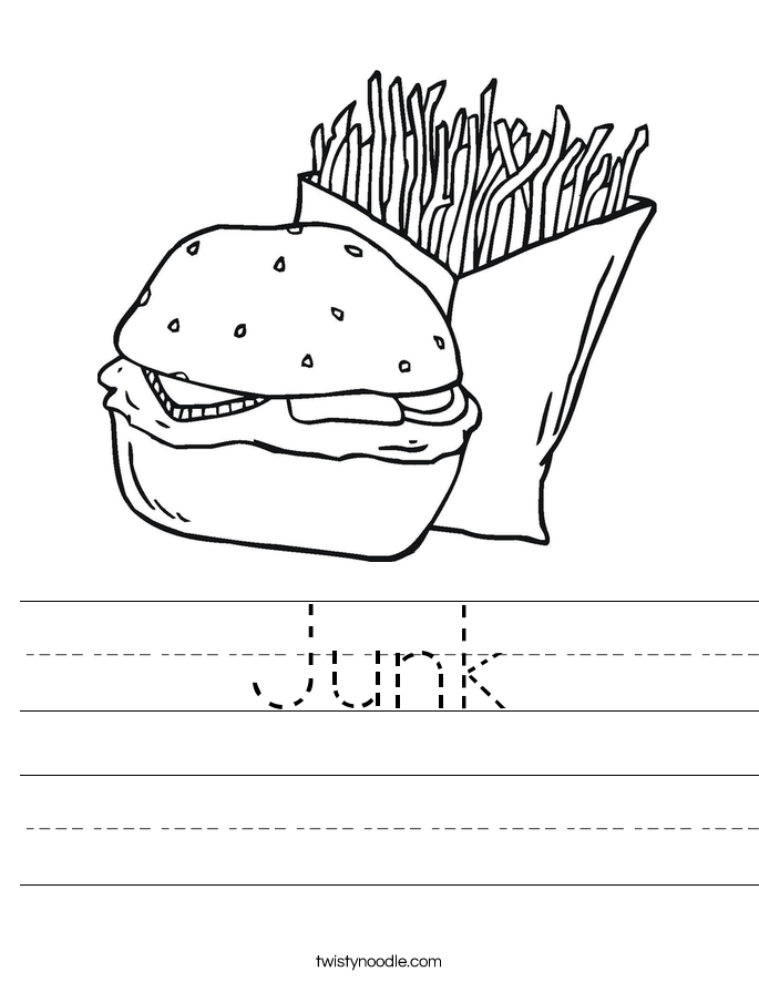 Junk Worksheet