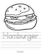 Hamburger Handwriting Sheet