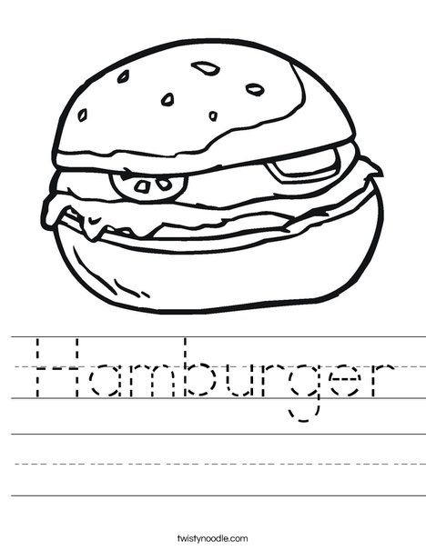 Hamburger Worksheet