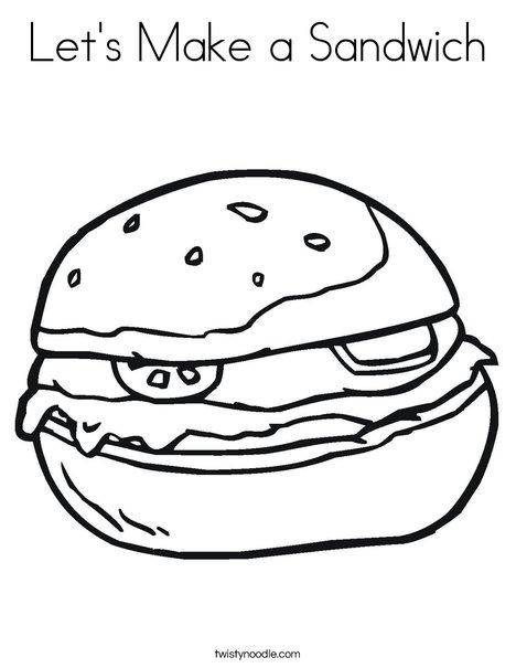 let s make a sandwich coloring page twisty noodle