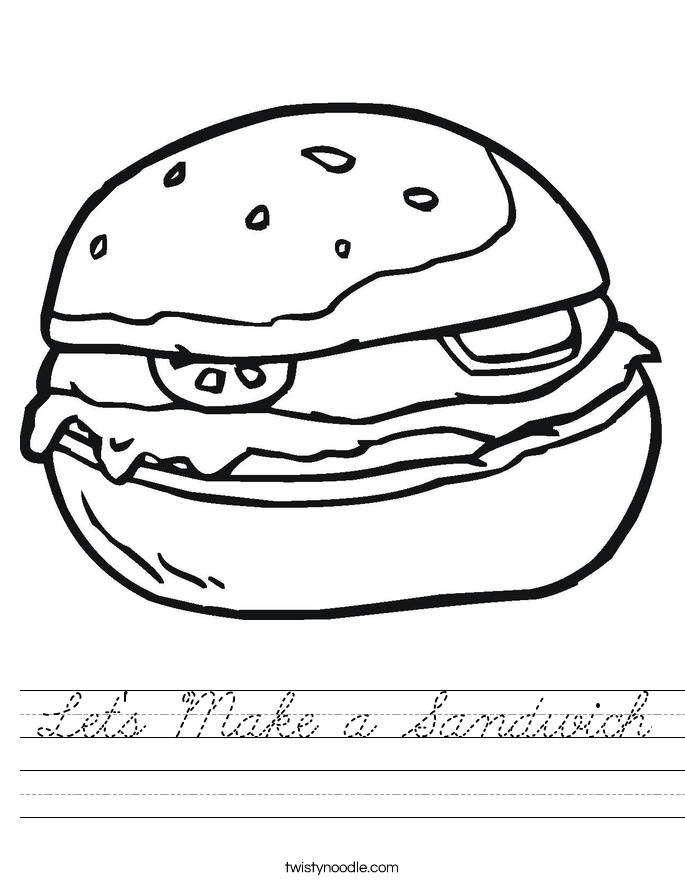 Let's Make a Sandwich Worksheet