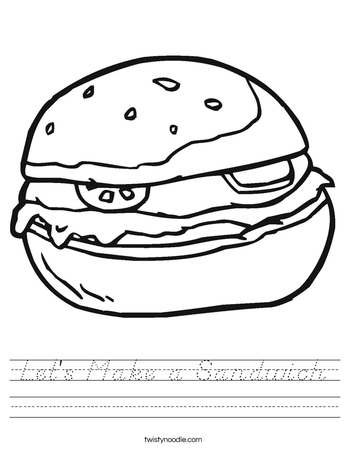 Let's Make a Sandwich Worksheet