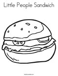 Little People Sandwich Coloring Page