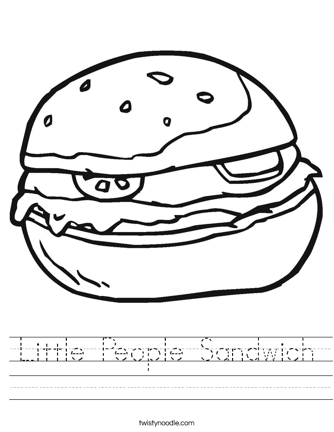 Little People Sandwich Worksheet
