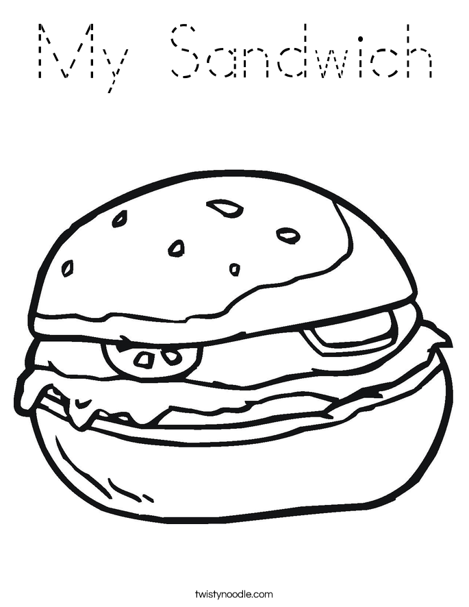My Sandwich Coloring Page