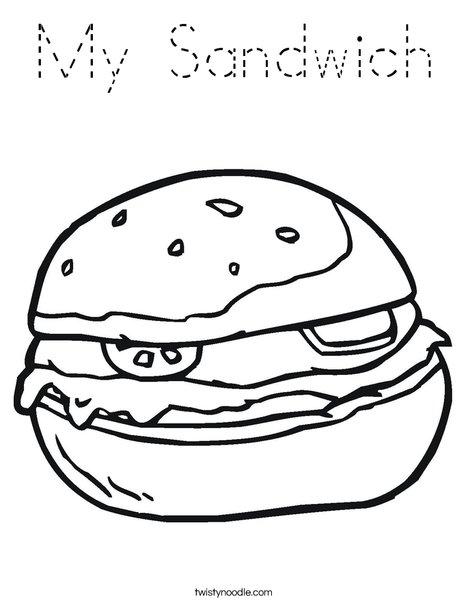 Hamburger Coloring Page