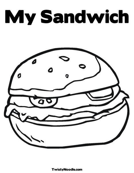 coloring pages images sandwiches - photo#26
