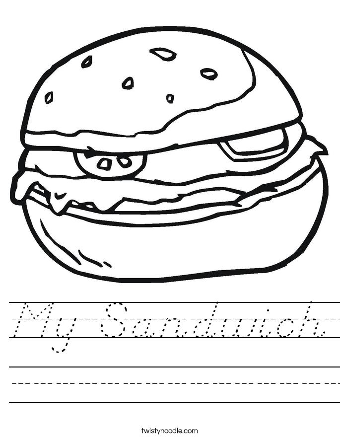 My Sandwich Worksheet