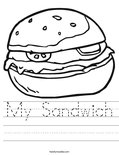 My Sandwich Worksheet
