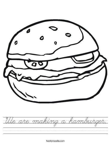 Hamburger Worksheet