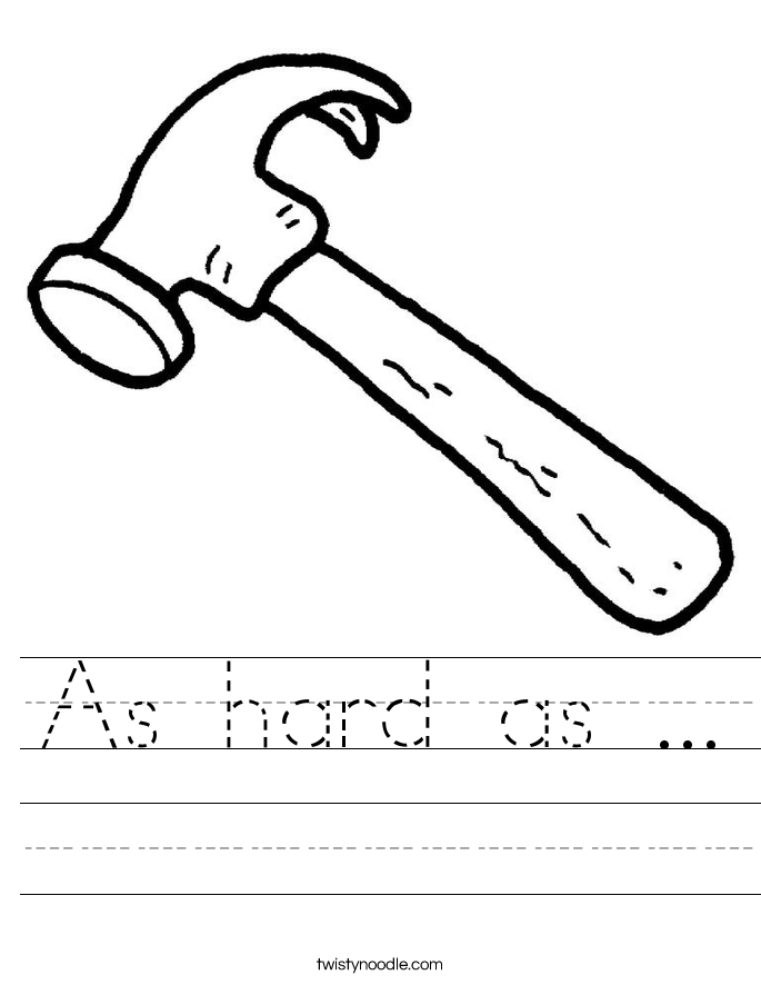 As hard as ... Worksheet