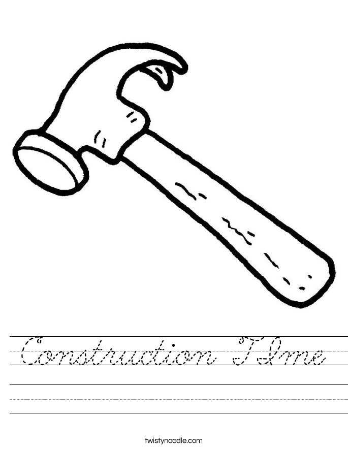 Construction TIme Worksheet