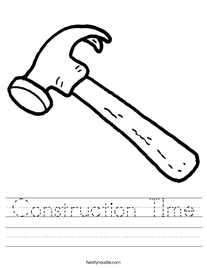 Construction TIme Worksheet