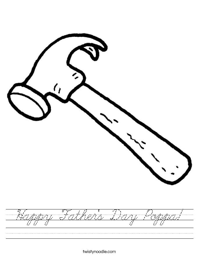 Happy Father's Day Poppa! Worksheet