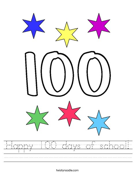 Happy 100 days of school! Worksheet
