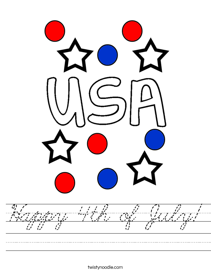 Happy 4th of July! Worksheet