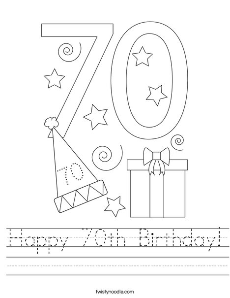 Happy 70th Birthday! Worksheet
